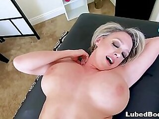 POV massage sex with a busty mature