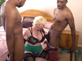 Granny Hammered by Black Cocks