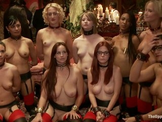 Bdsm Porn Haul someone over the coals Group Mating In the matter of Nine Slaves