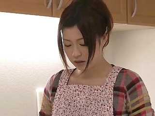 Riko has a dildo dream in the brush kitchen and uses the brush toys to cum 5 min