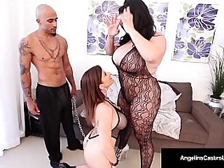 Busty Beamy Titted Babes Angelina Castro added to Sara Jay Adulate Threeways!