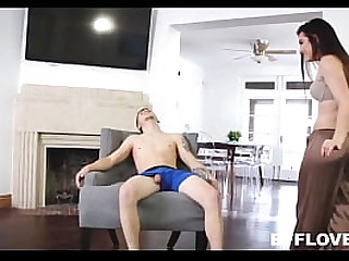 Young Petite Teen Stepsister & Bffs Fuck Stepbrother While He s. POV